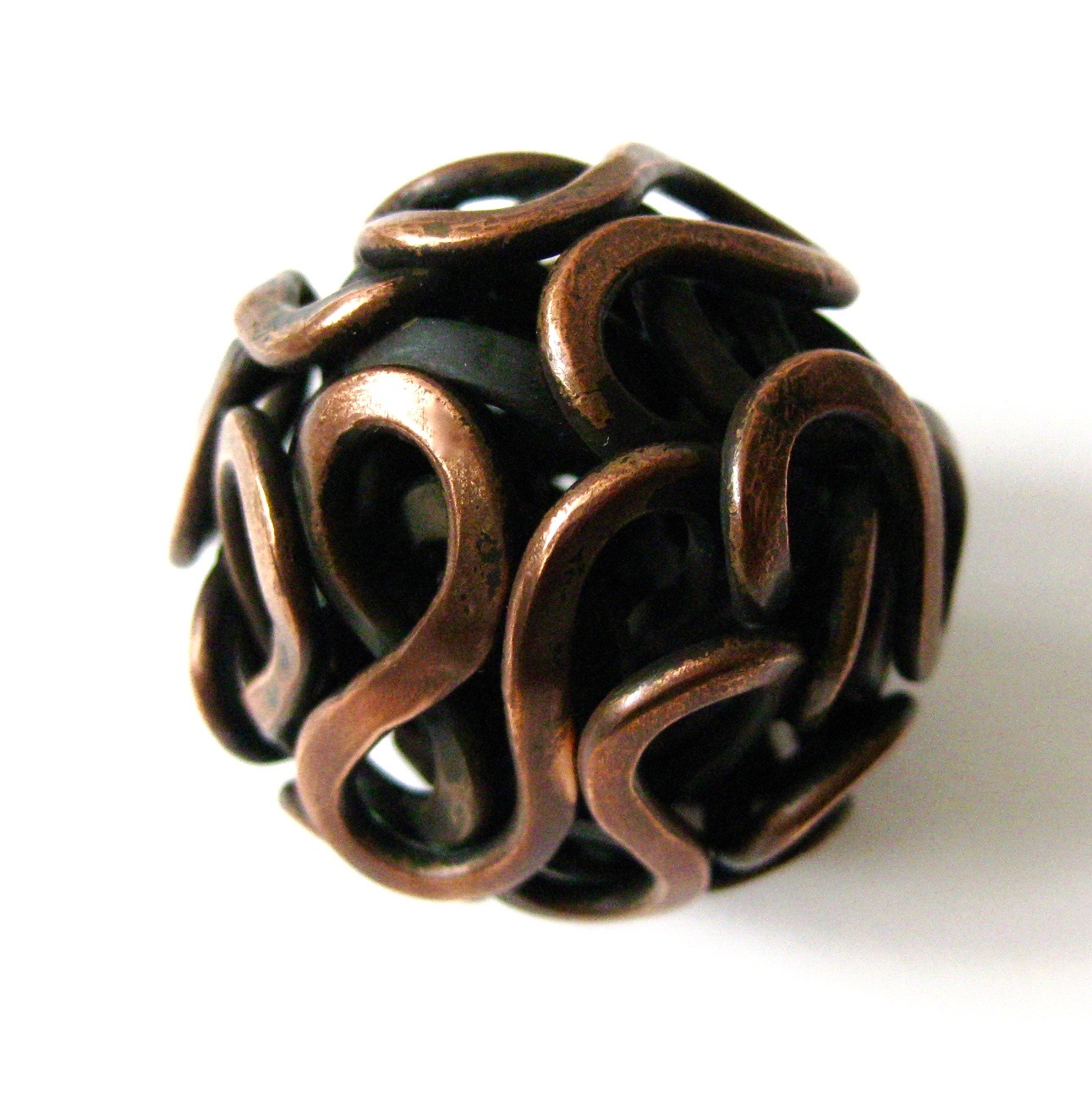 ' Muse' Handheld Woven Sculpture, 2013, Forged Oxidised Copper