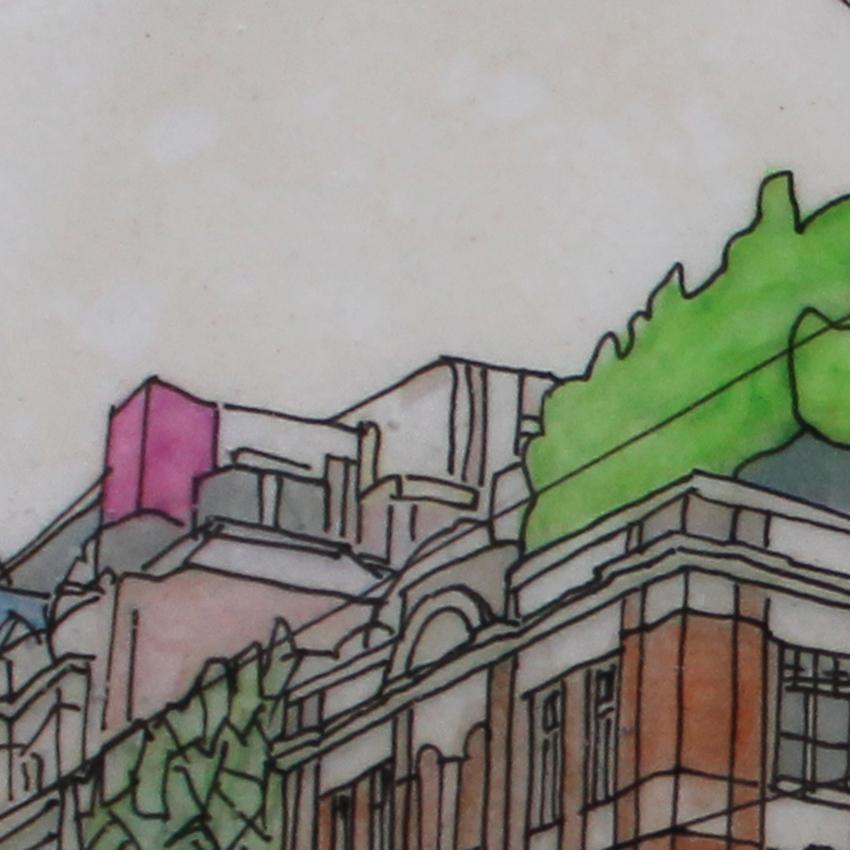Swanston St, Melbourne (detail)