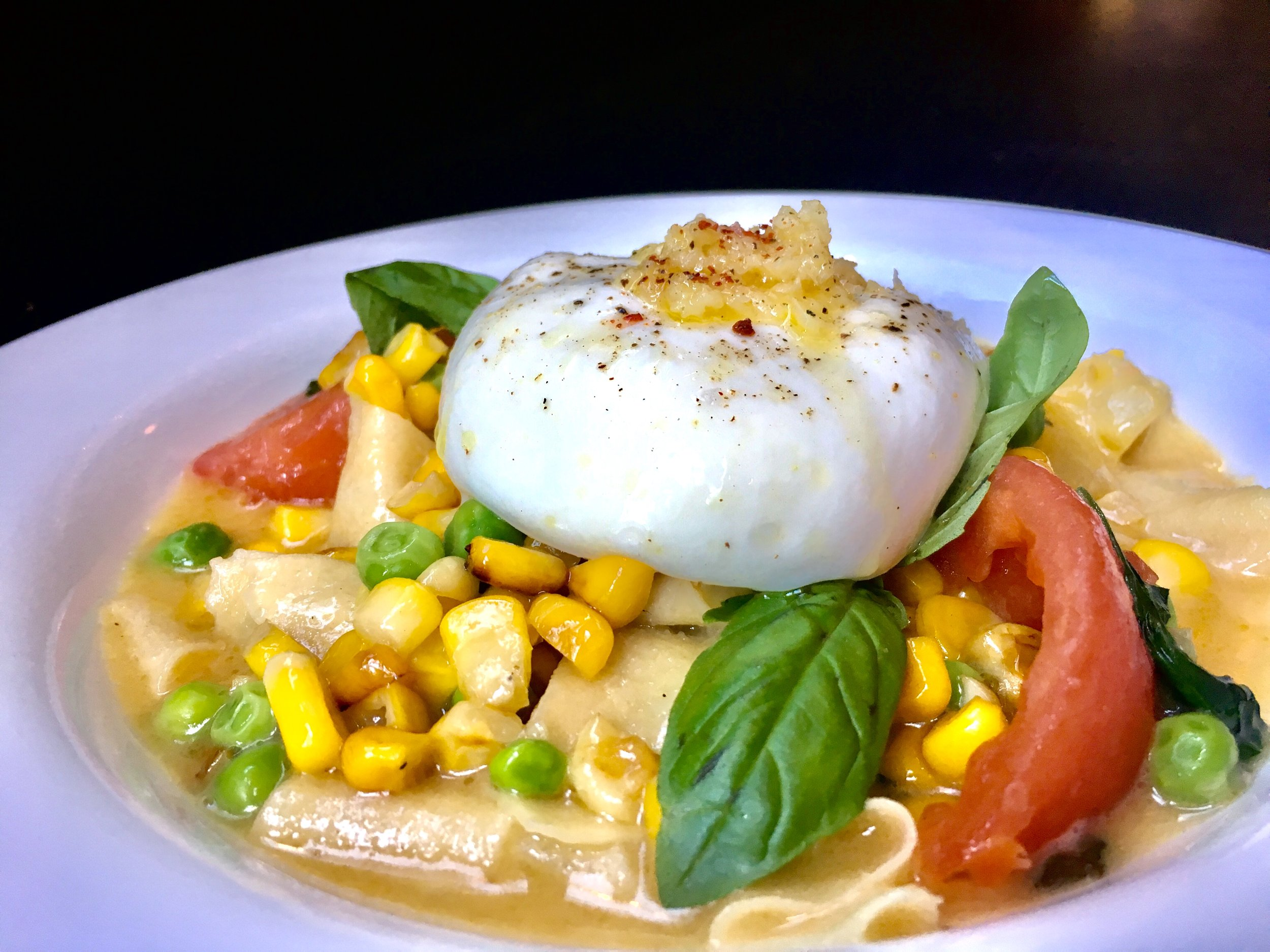 Late Summer Pasta with Burrata