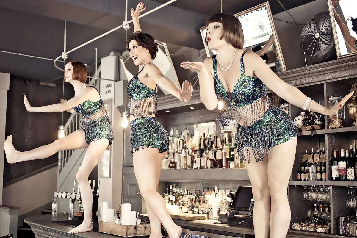 The Flapper Girls leading the dancing