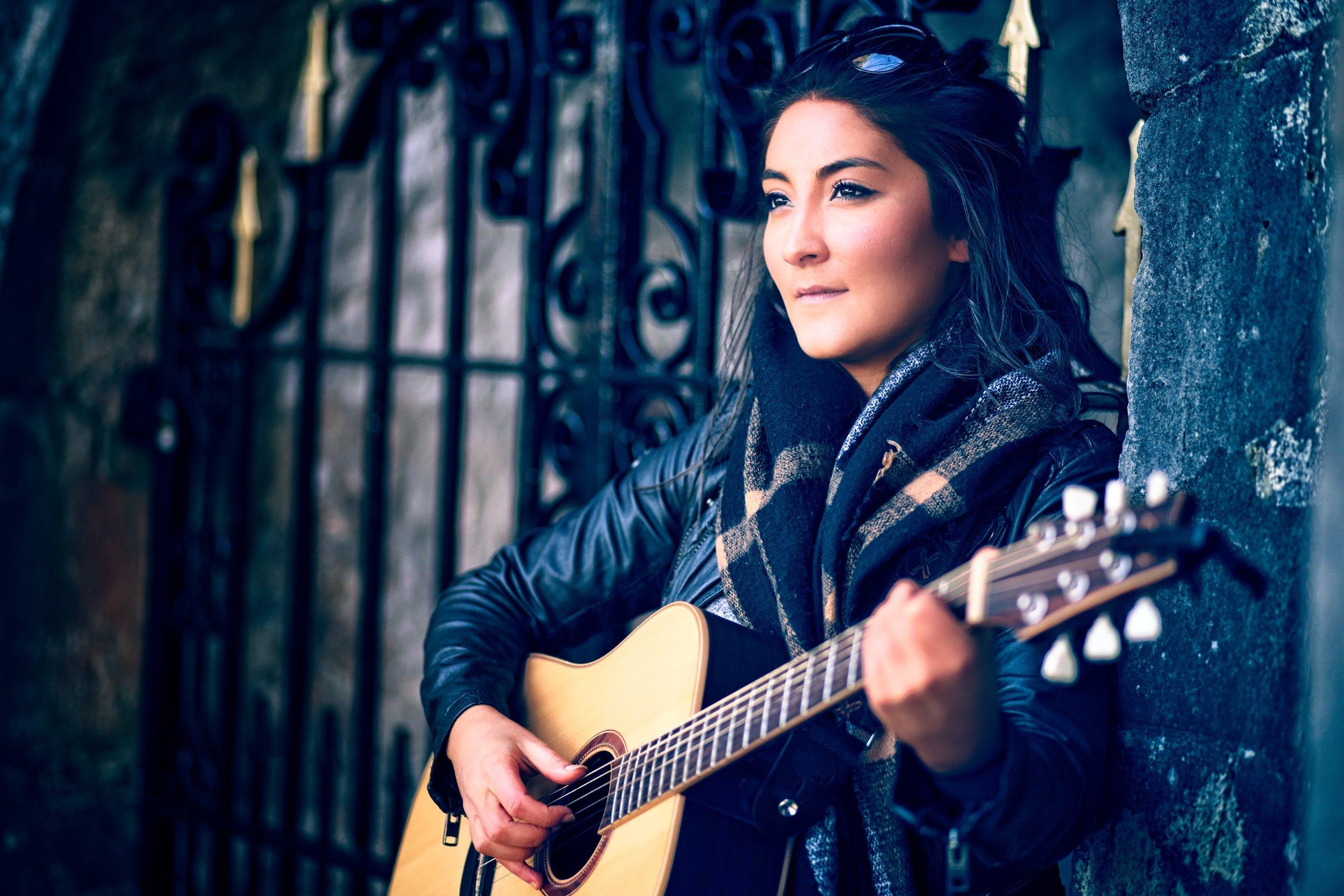 Pari performs beautiful vocals and acoustic accompaniment