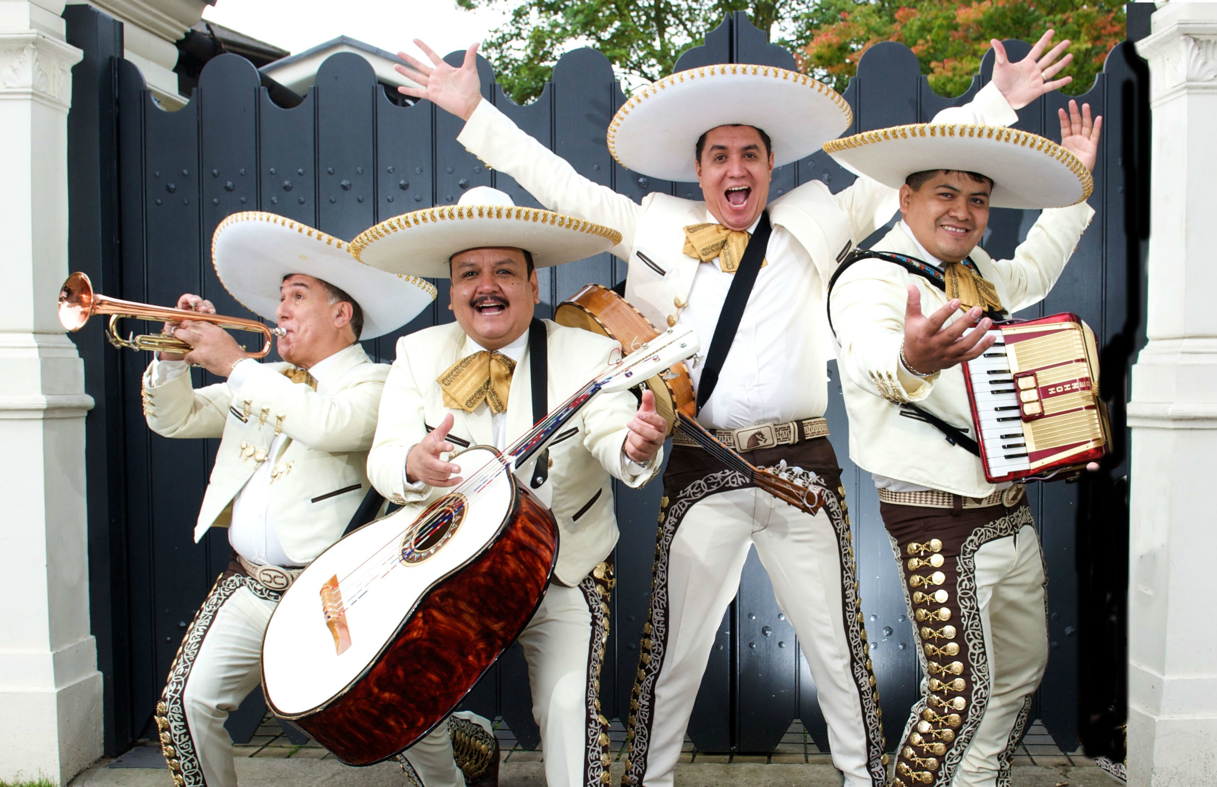 The Mariachis perform serenades, traditional pieces and modern pop music in a Mariachi style!
