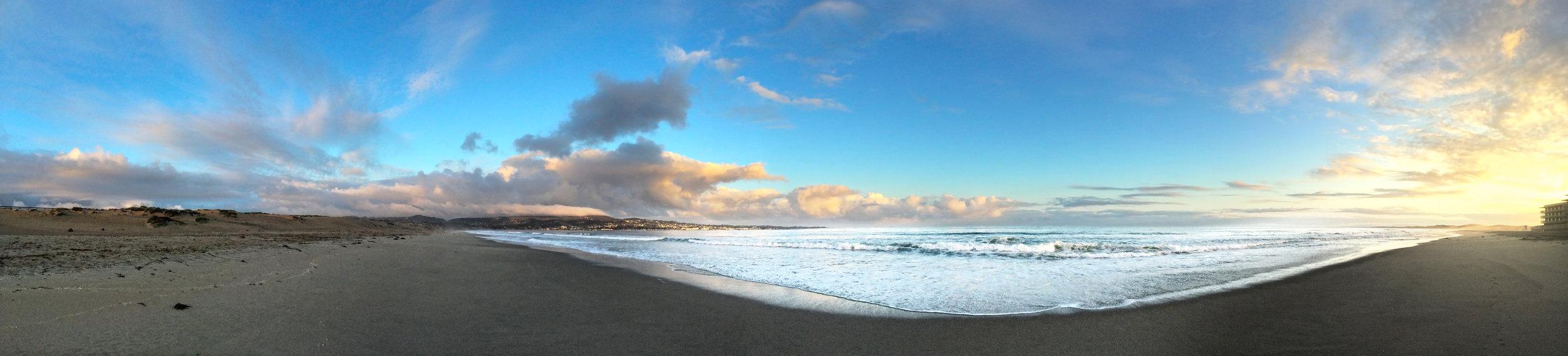 Beach Hotel at Dawn