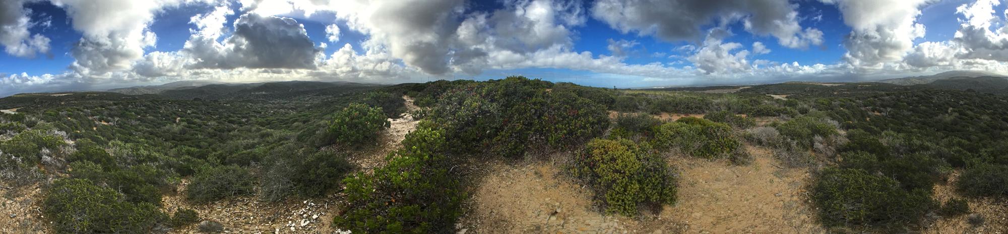 Panorama From Mt. Toro to Jacks Peak (Ft. Ord)