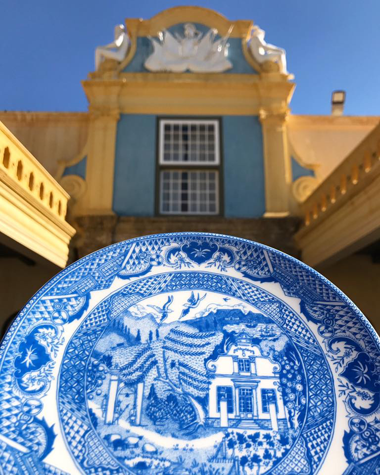 The first Willow Pattern plate to come out of the kilns, photographed on September the first 2017 - 303 years to the day that Maria was executed at the Castle.