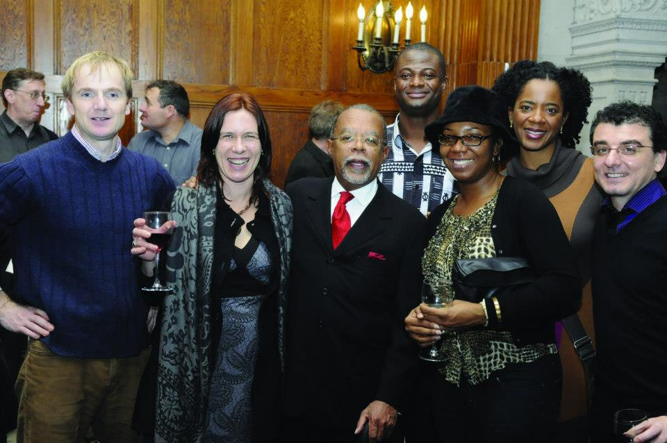 Dr. Ards at Du Bois Institute with Prof. Henry Louis Gates, Jr. and other DBI fellows