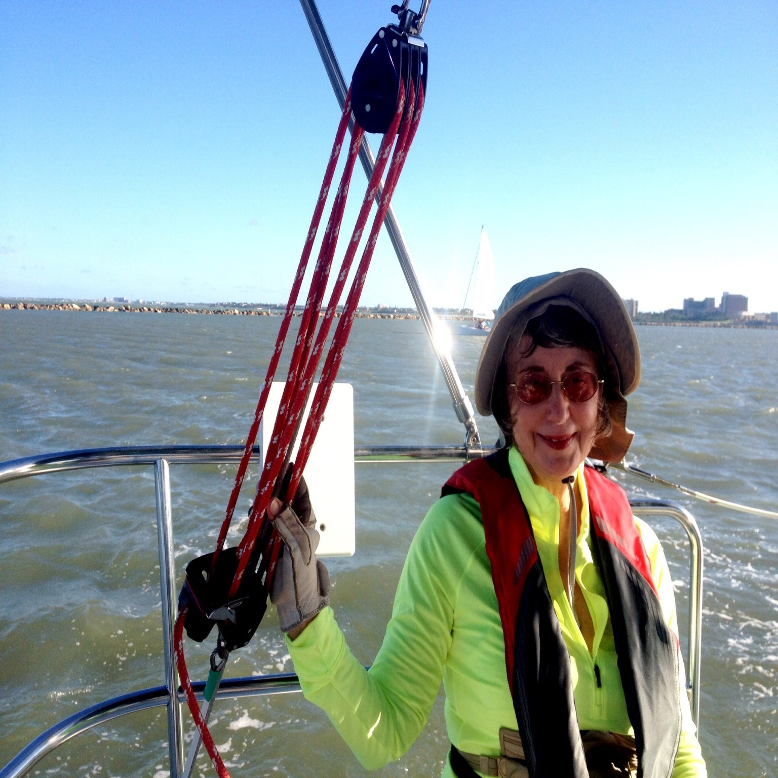 Sailing in corpus christi bay