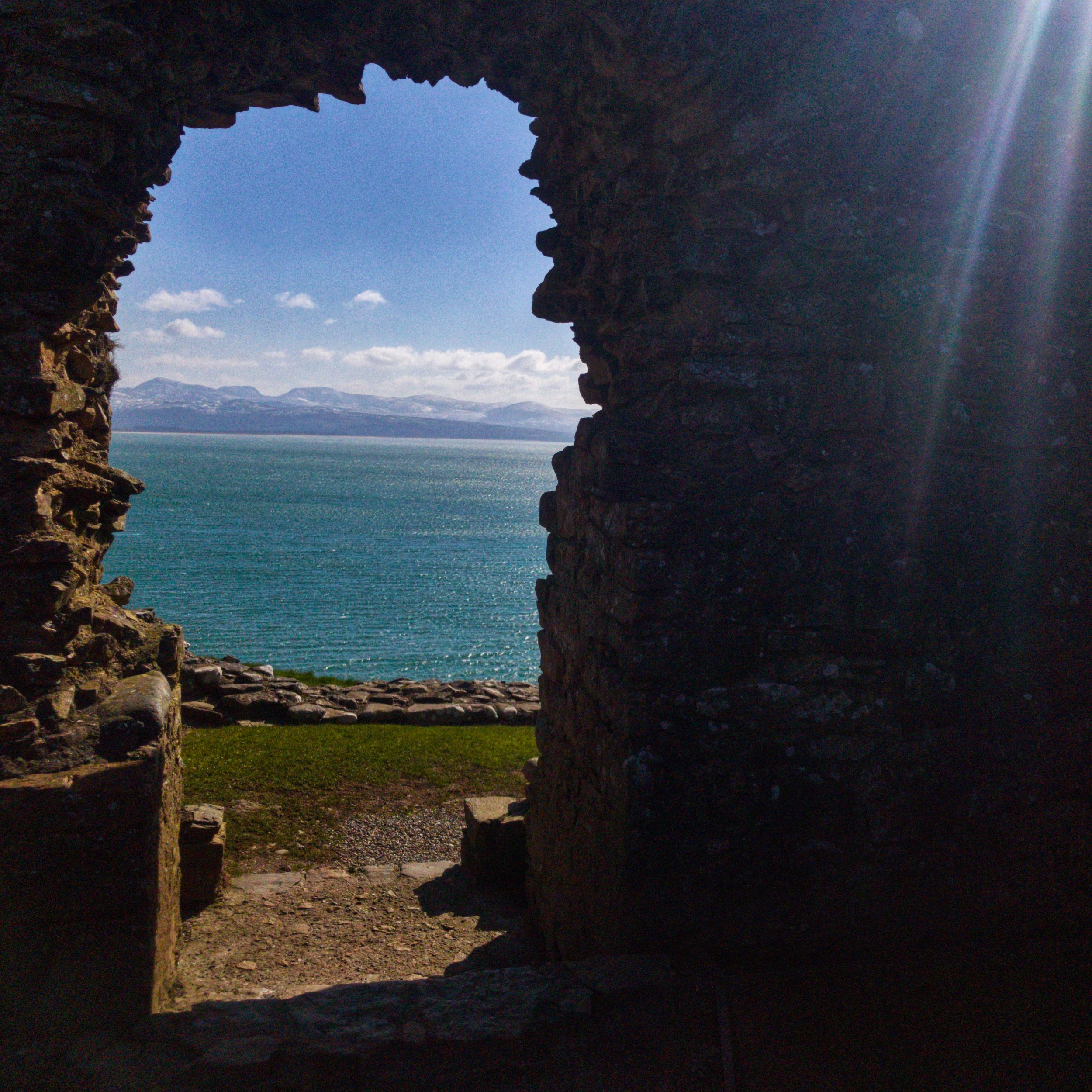The view of Cardigan Bay from on high, Criccieth Castle