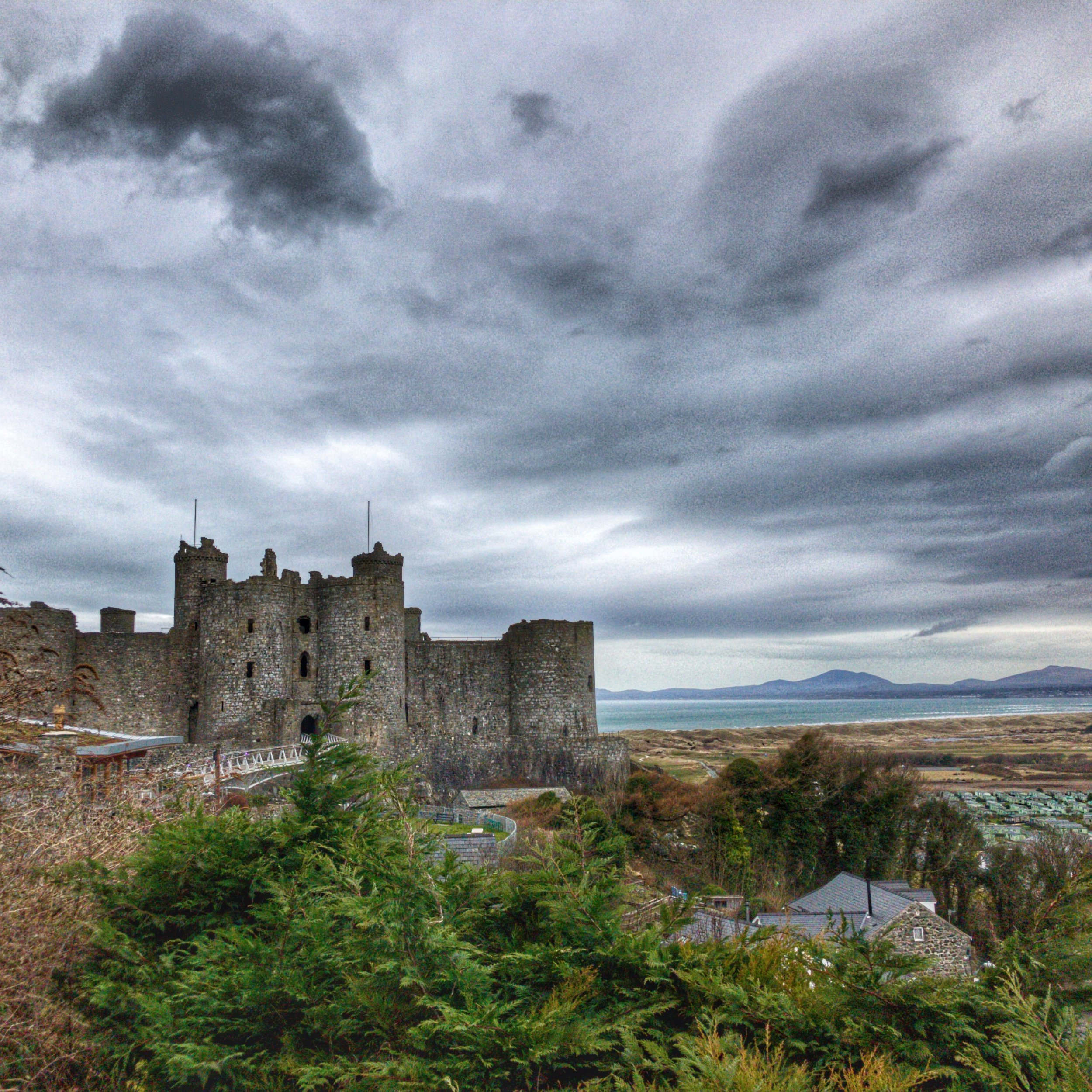 The view of and from dog friendly Harlech Castle