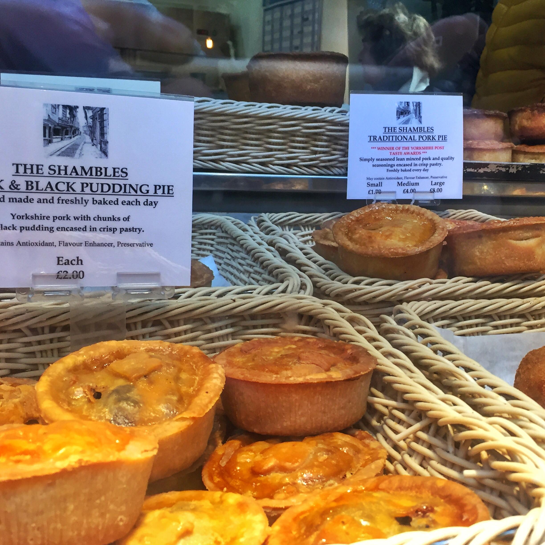 England's staple…pie, pie, and pie