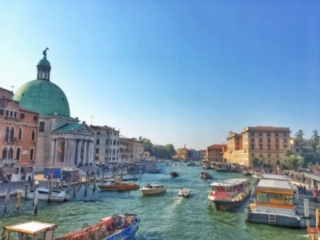 Rush hour on the Grand Canal, Venice!