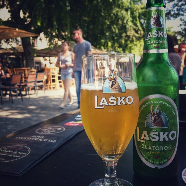 Enjoy a glass of Laško or Union at one of the many bars or cafes