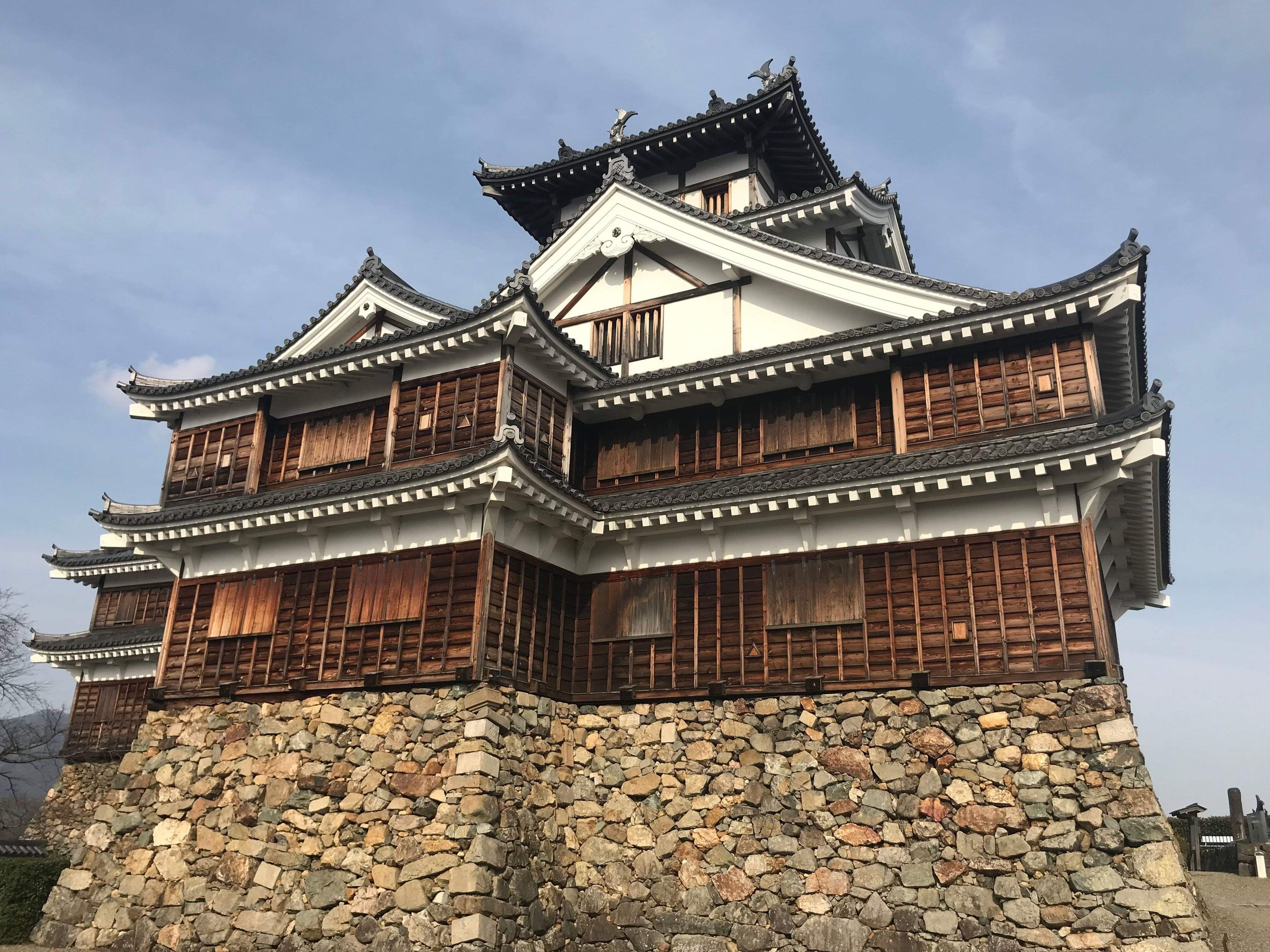 Fukuchiyama Castle, near Kyoto, was originally built in 1572 by the Yokoyama clan, but has been now rebuilt after its destruction in 1872 after attempts to modernize Japan failed.