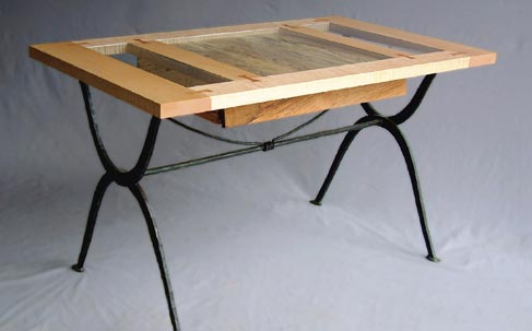 Steel and Maple Writing Desk