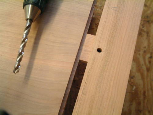 Dry-fit to mark for dowel pins