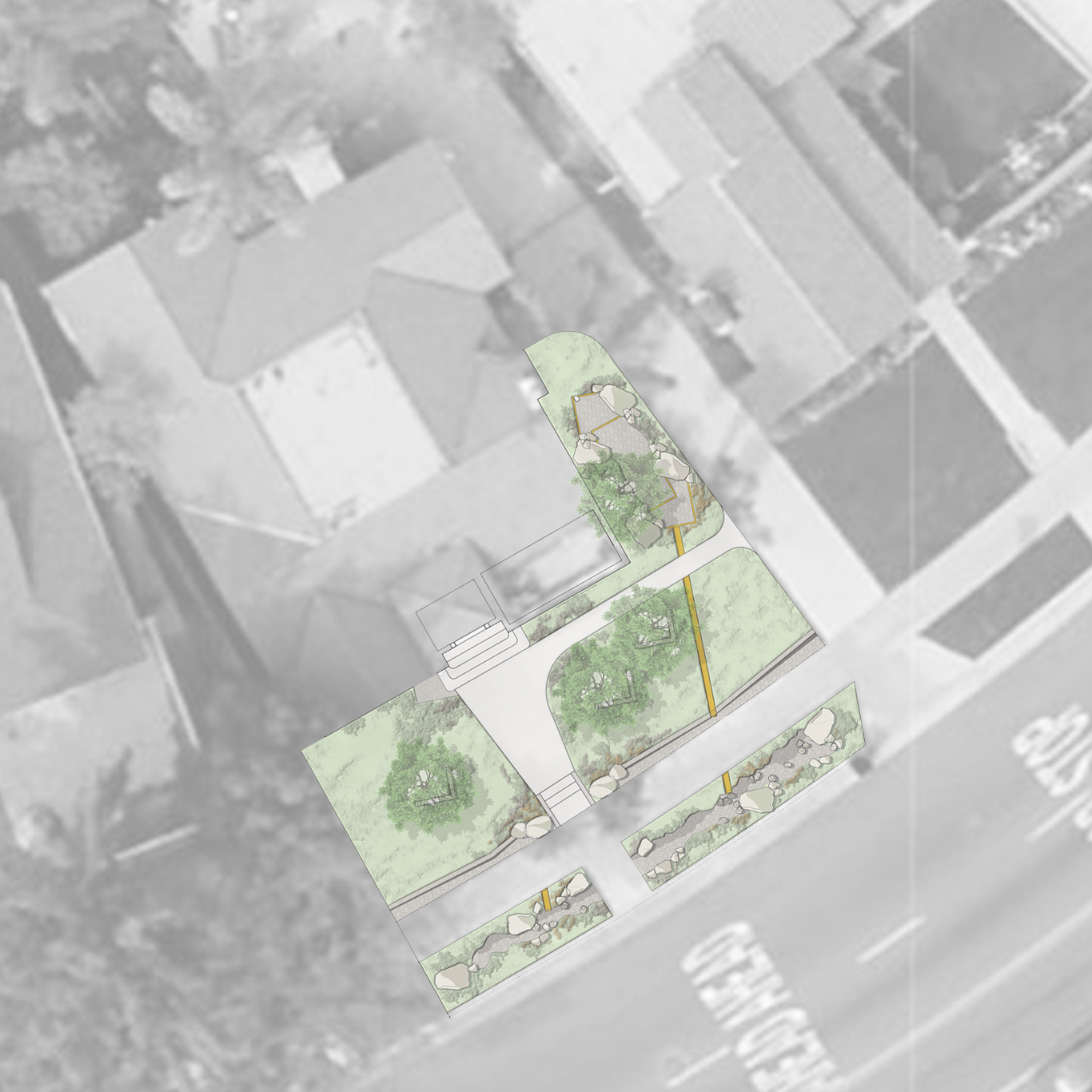 Los Angeles Residential / Inspired by stormwater capture and ecology.