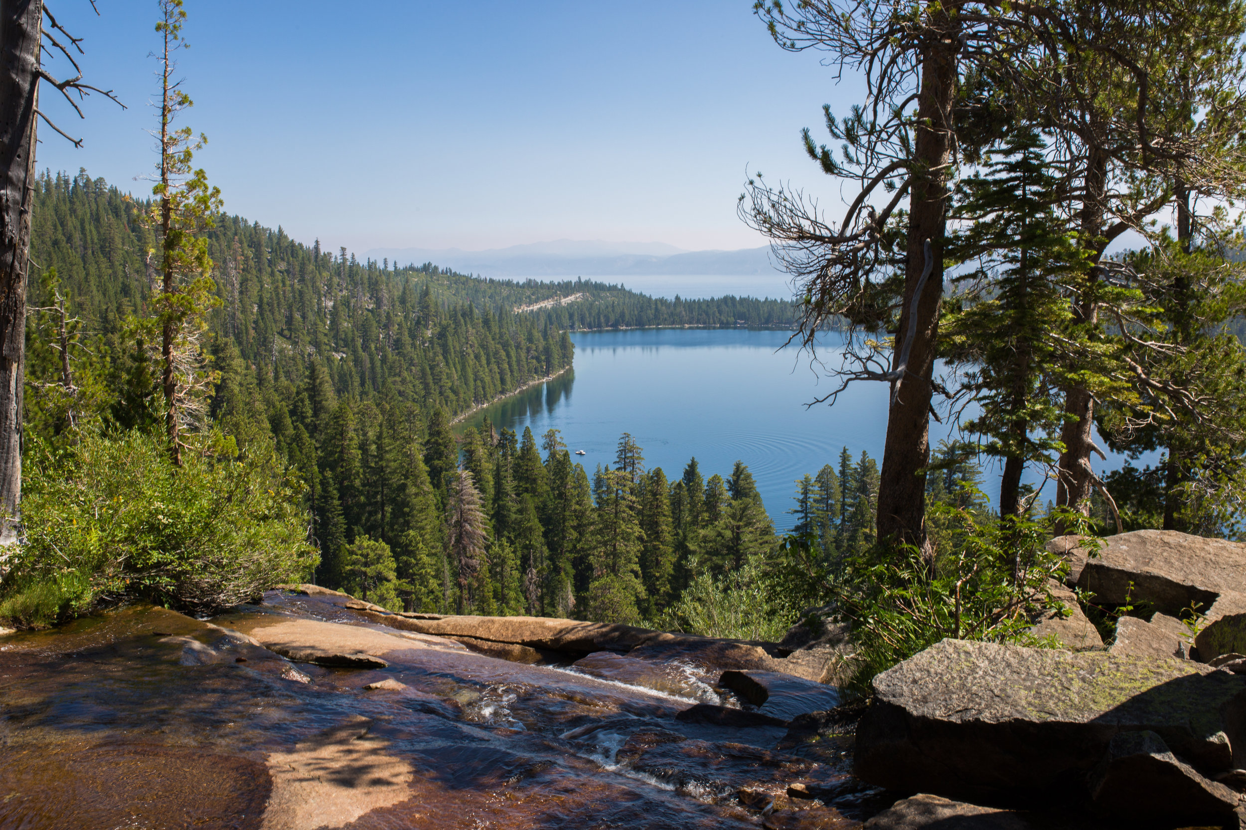 All the trails and beaches in Tahoe are busy in the summer, but I'm glad we did at least one hike - these are from Cascade Falls Trail