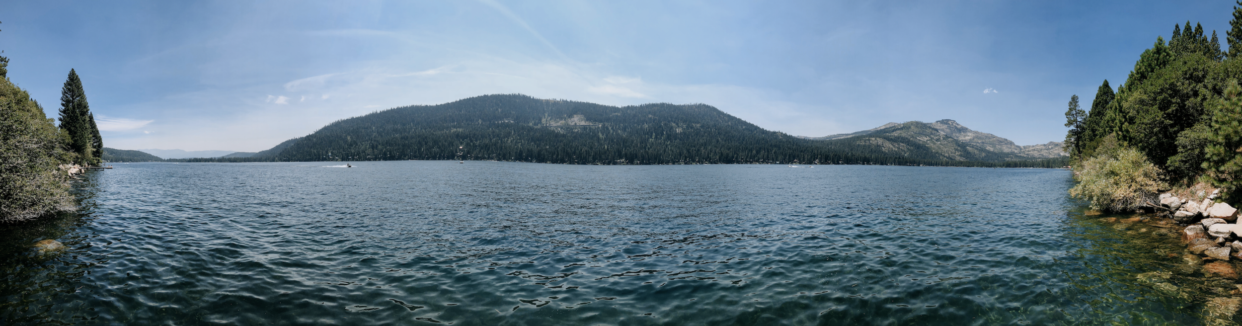 Scored ourselves a private dock around the lake near Truckee - we really loved this spot.