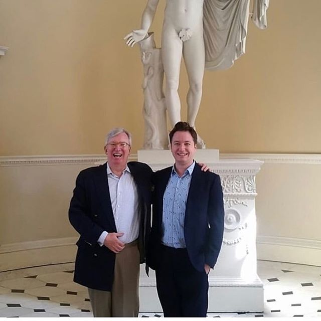Great to have @tomsavage1775 (seen here with HD's @archmusicman) and his charming and erudite @winterthurmuse group at Syon yesterday. Caroline and Oliver gave a tour of the house and, before a proper summer tea, a talk on British interior design from the Renaissance to the Regency. #interiordesign #historicinteriors
