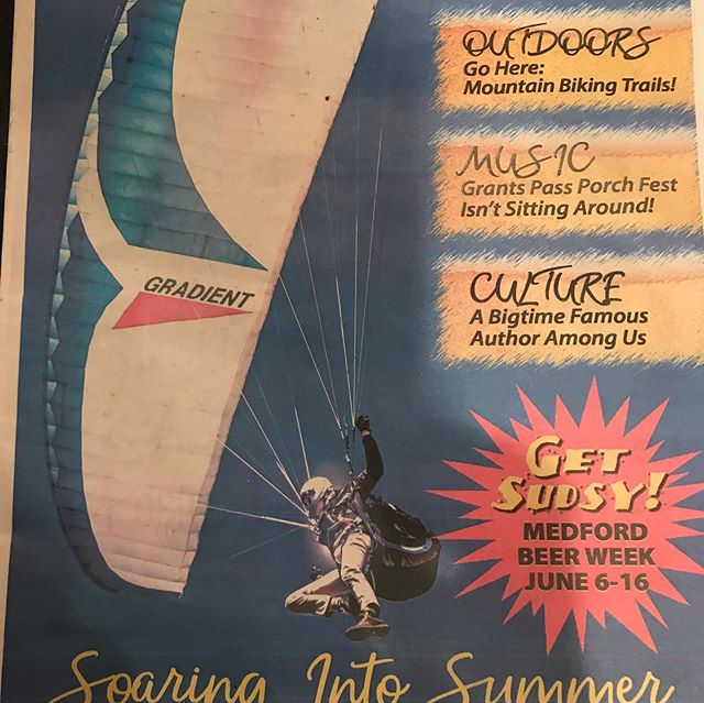 """Landed"" on the front of a magazine  #Summerflying"