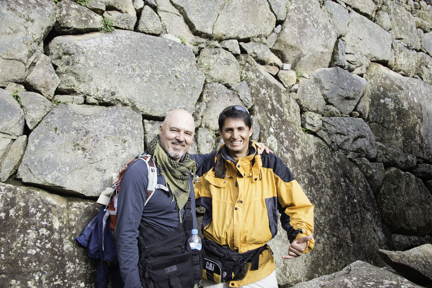 Male Hikers at Machu Picchu