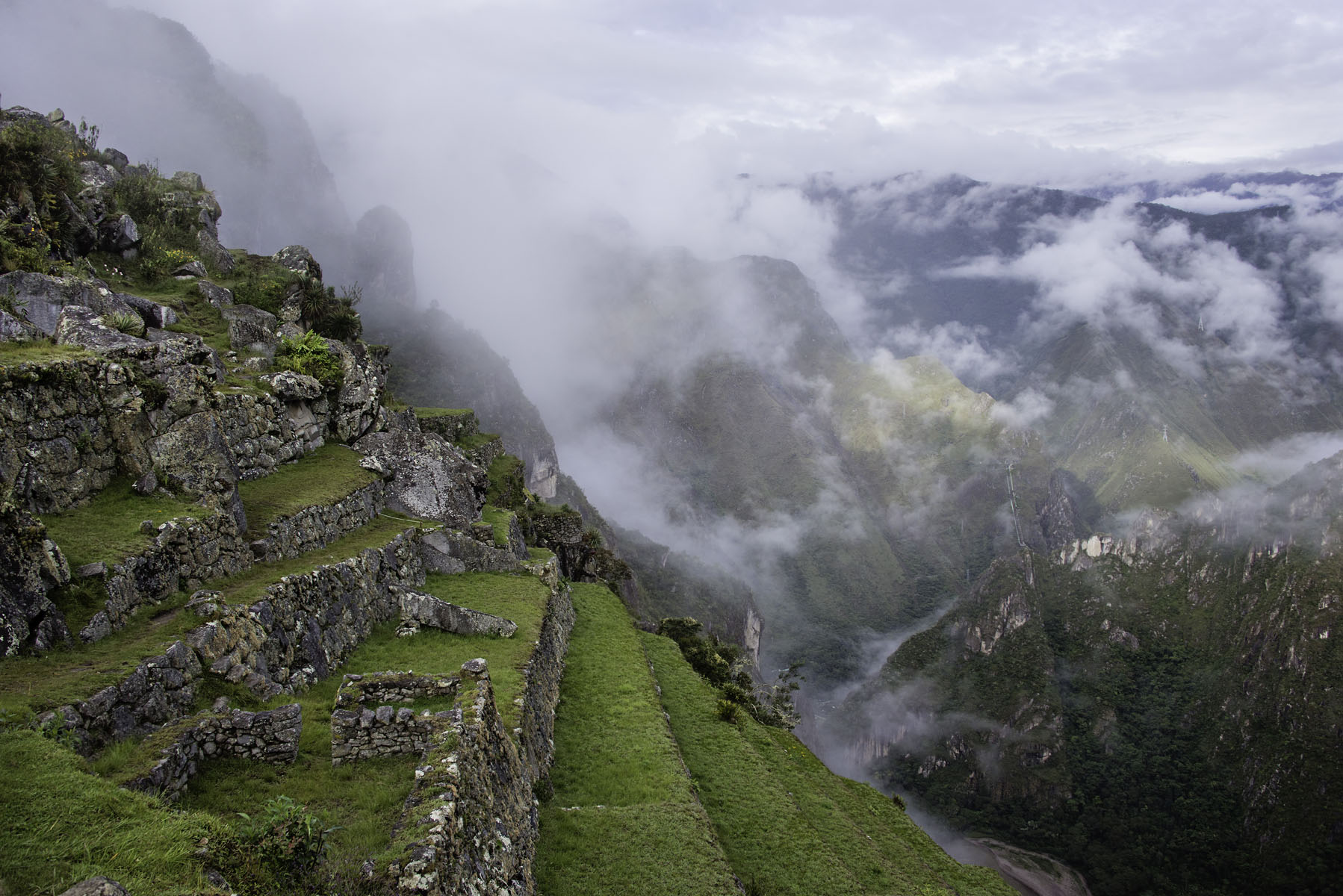Clouds Covering the Mountains at Machu Picchu