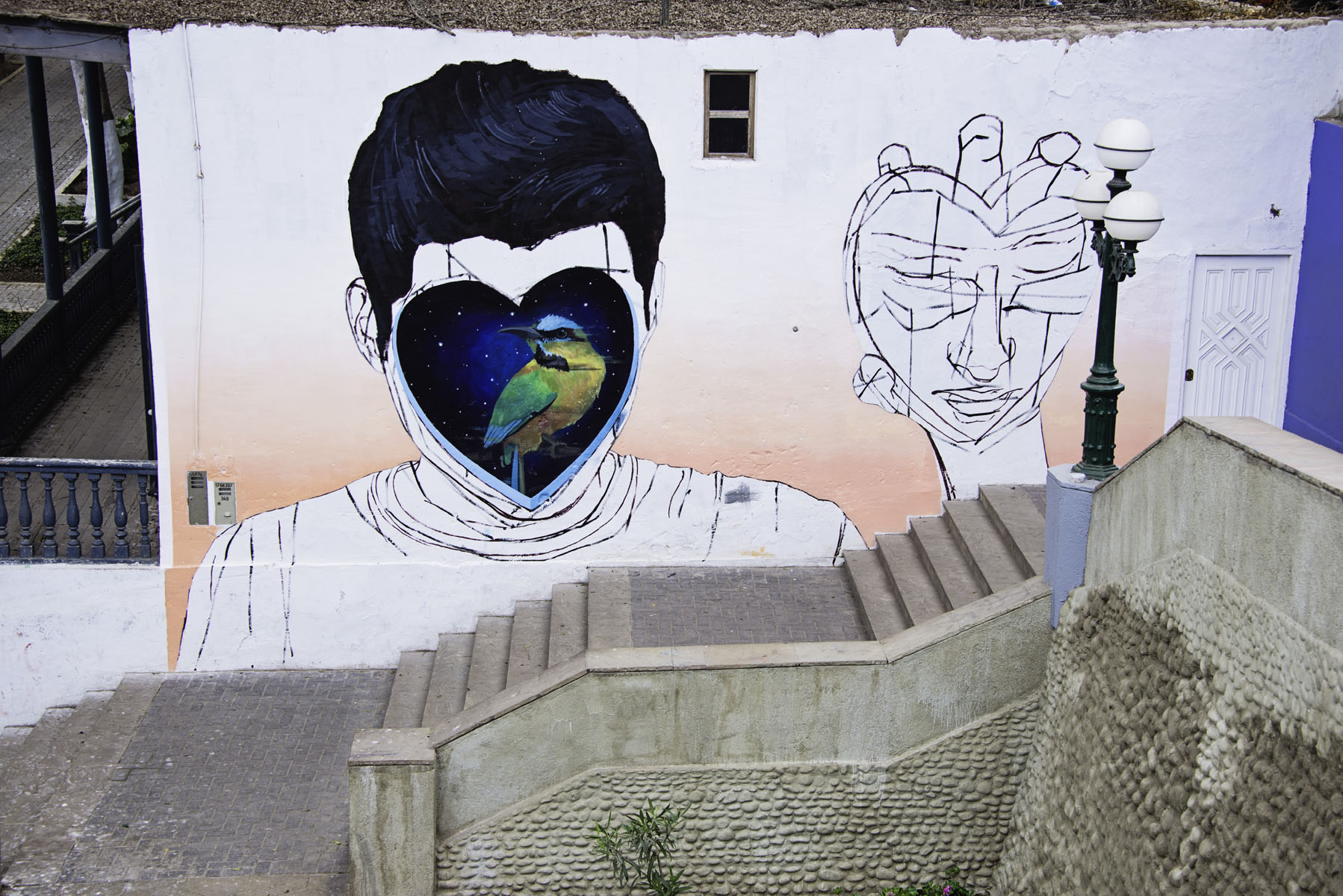 Graffiti Art Wall Mural in Barranco Lima