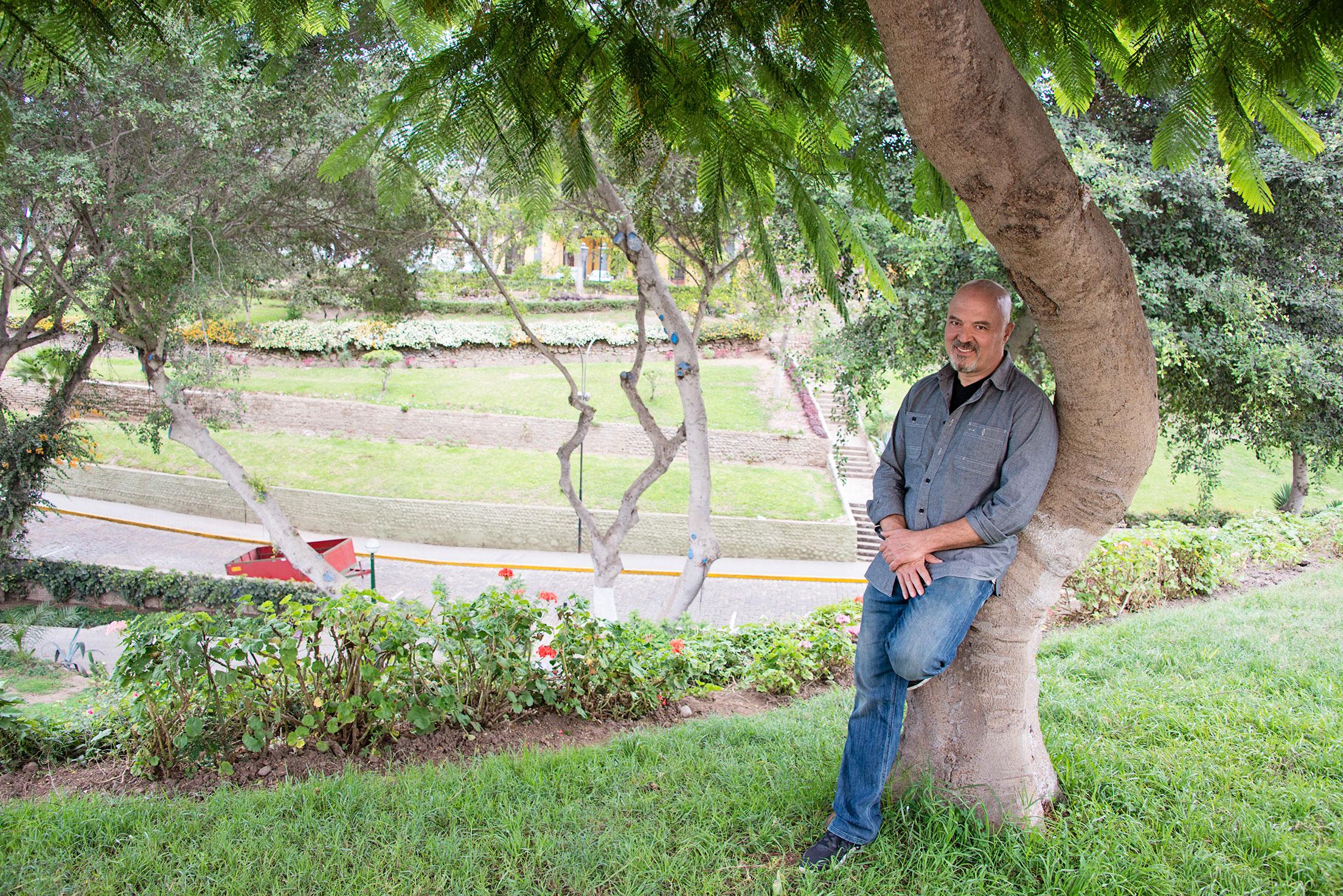 Fabio Resting on a Tree in a Park in Miraflores Lima Peru