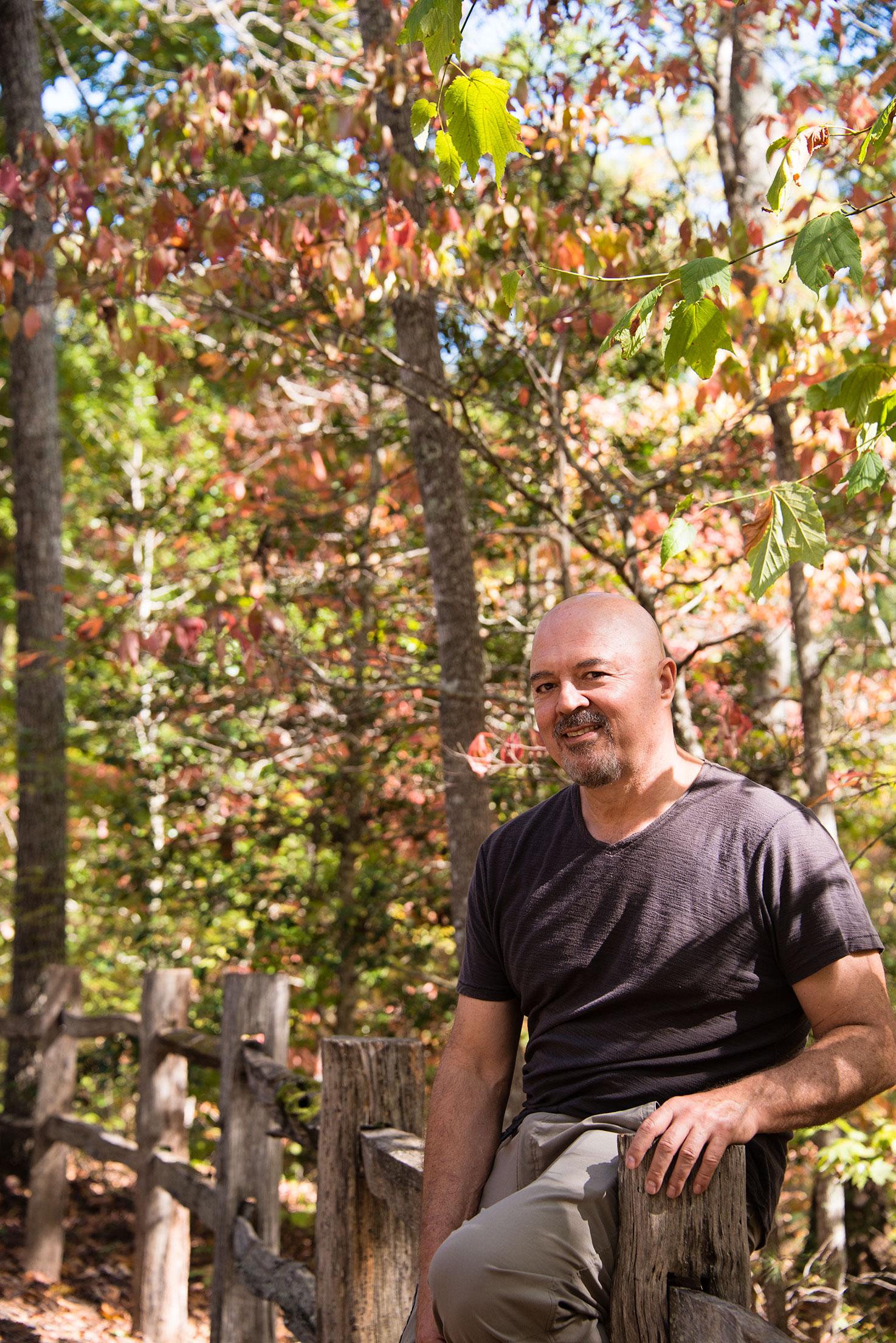 Man in the Woods at the North Carolina Arboretum