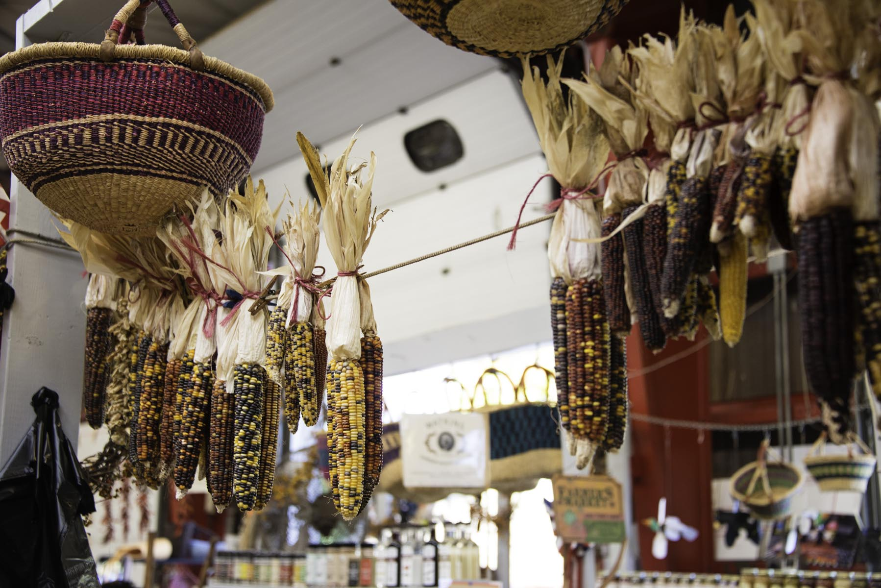 Dried Corn at The WNC Farmers Market