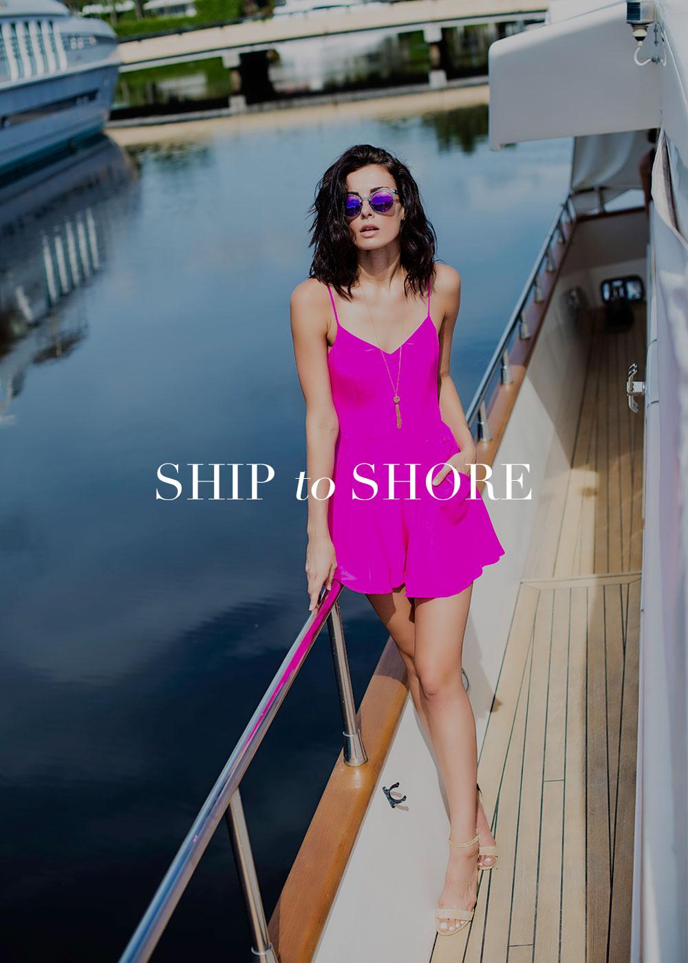 Stylish Woman on Yacht