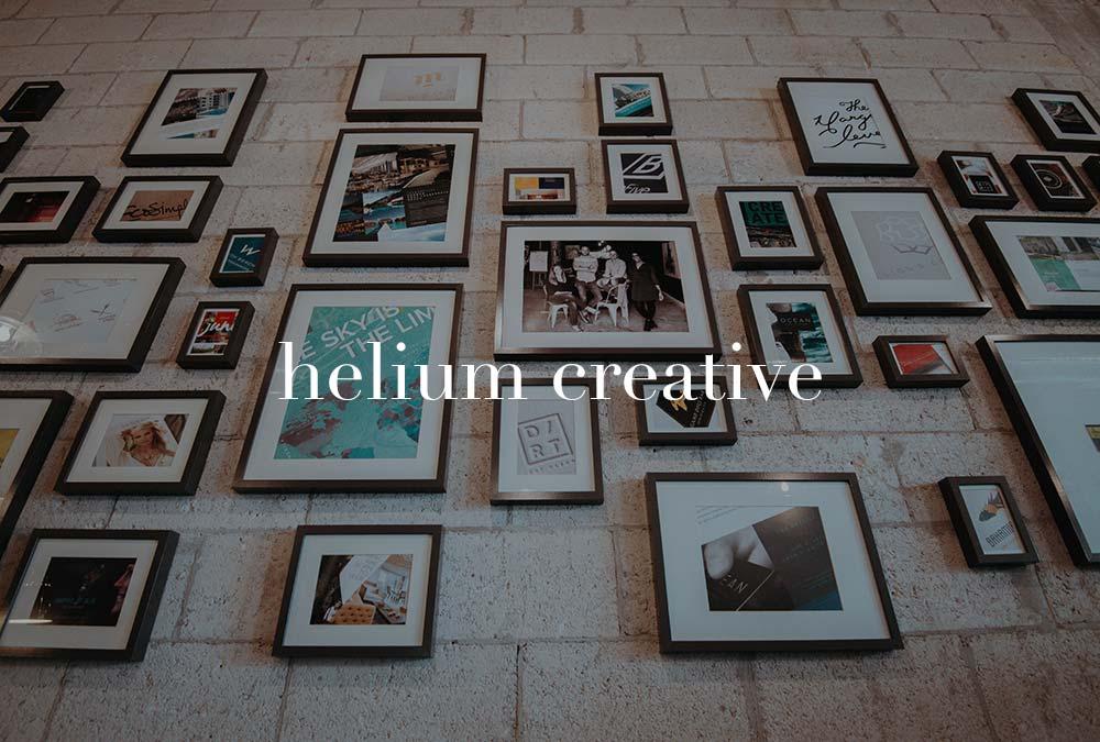 gallery wall in creative studio