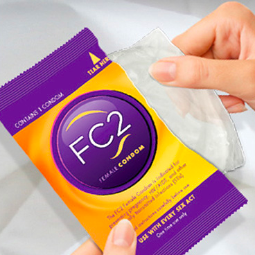 internal condoms - place inside the vagina or anus to provide a barrier between partners during anal or vaginal sex.