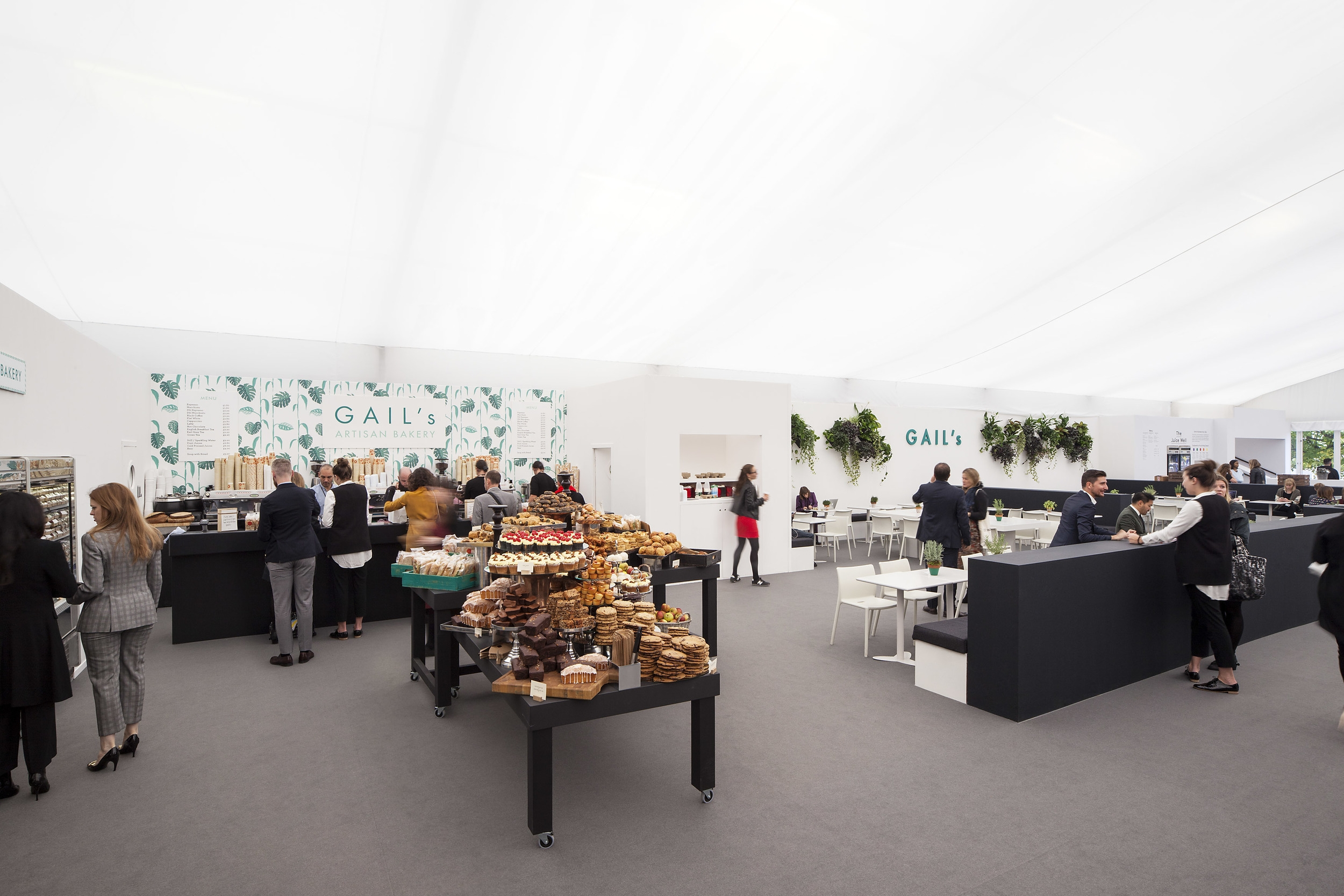 Tables for GAIL'S Artisan Bakery, at Frieze Art Fair, 2015