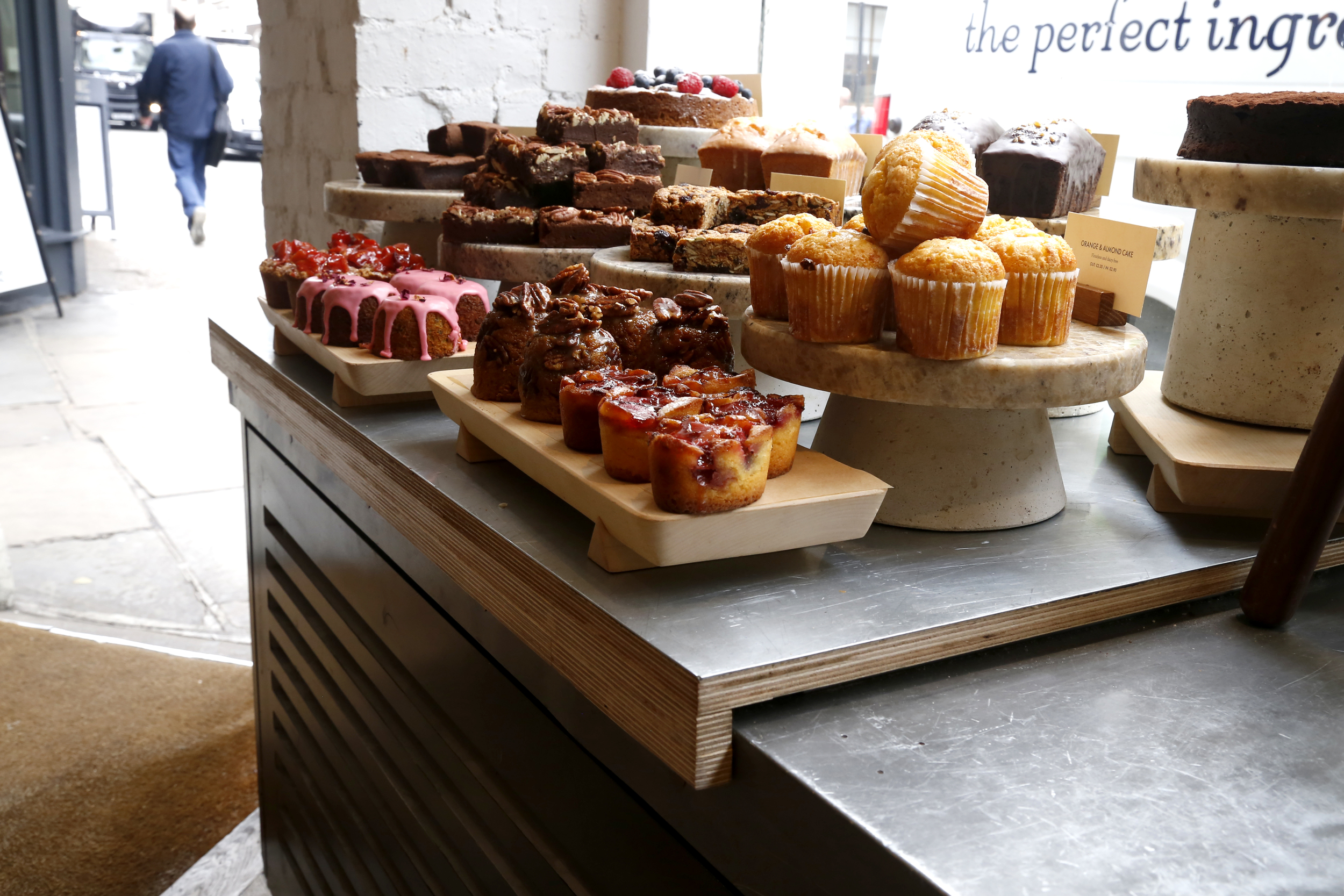 Zinc tray for GAIL's Artisan Bakery, Wardour Street London, 2016
