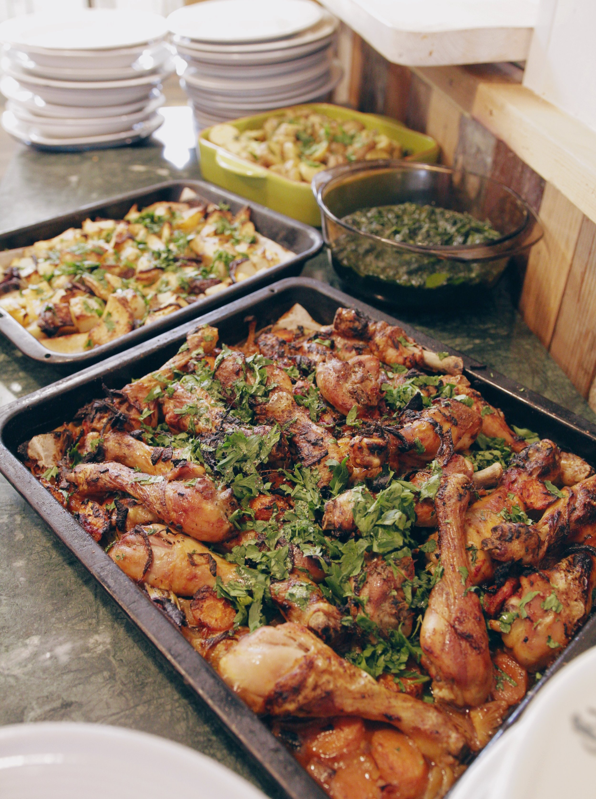 Sicilian chicken fresh out the oven.  Photography by Vlad Muko.