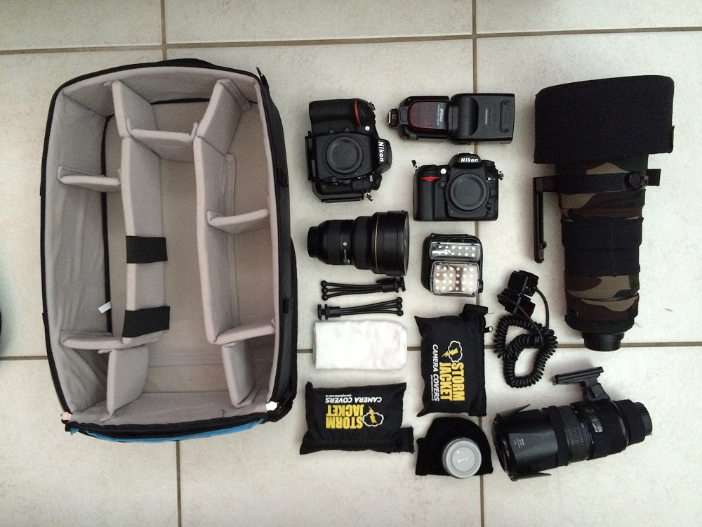 F-Stop Gear XL Pro ICU with photographic gear which gets packed inside.
