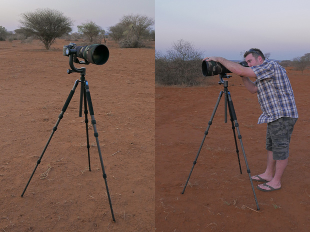 Tripod at standing height. (Photos by Jon Bryant)