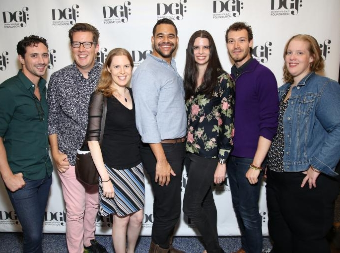 With our fellow incoming Fellows!  The Annual Fellows Presentation of New Works on September 18, 2017  Photos by Dramatists Guild Foundation