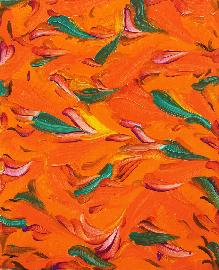 Orange Breeze, 65 x 53 cm, oil on canvas, 2017