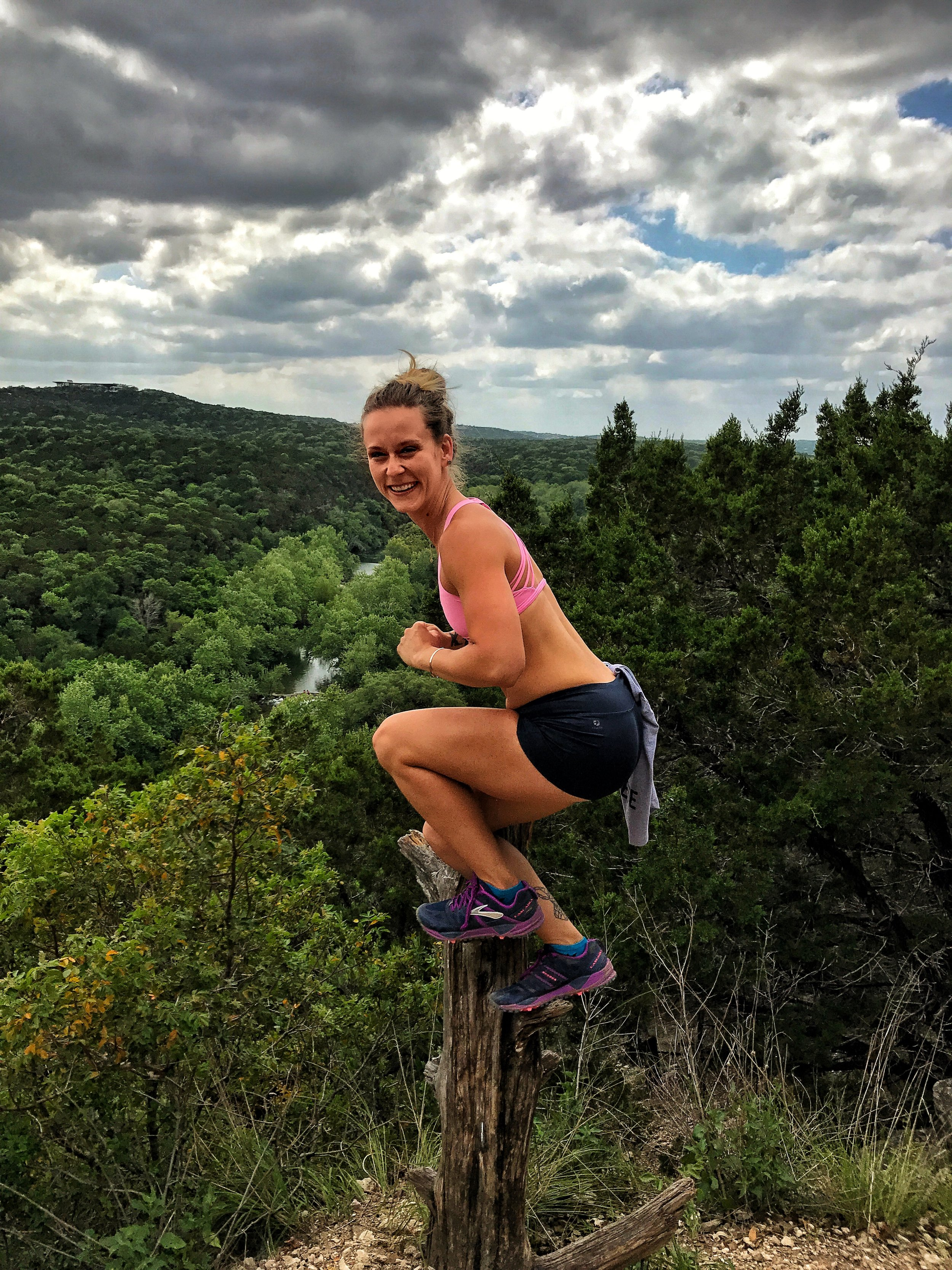 Life is also too short not to perch like a duck on a tree stump on the top of a Greenbelt outlook, laughing like an idiot.
