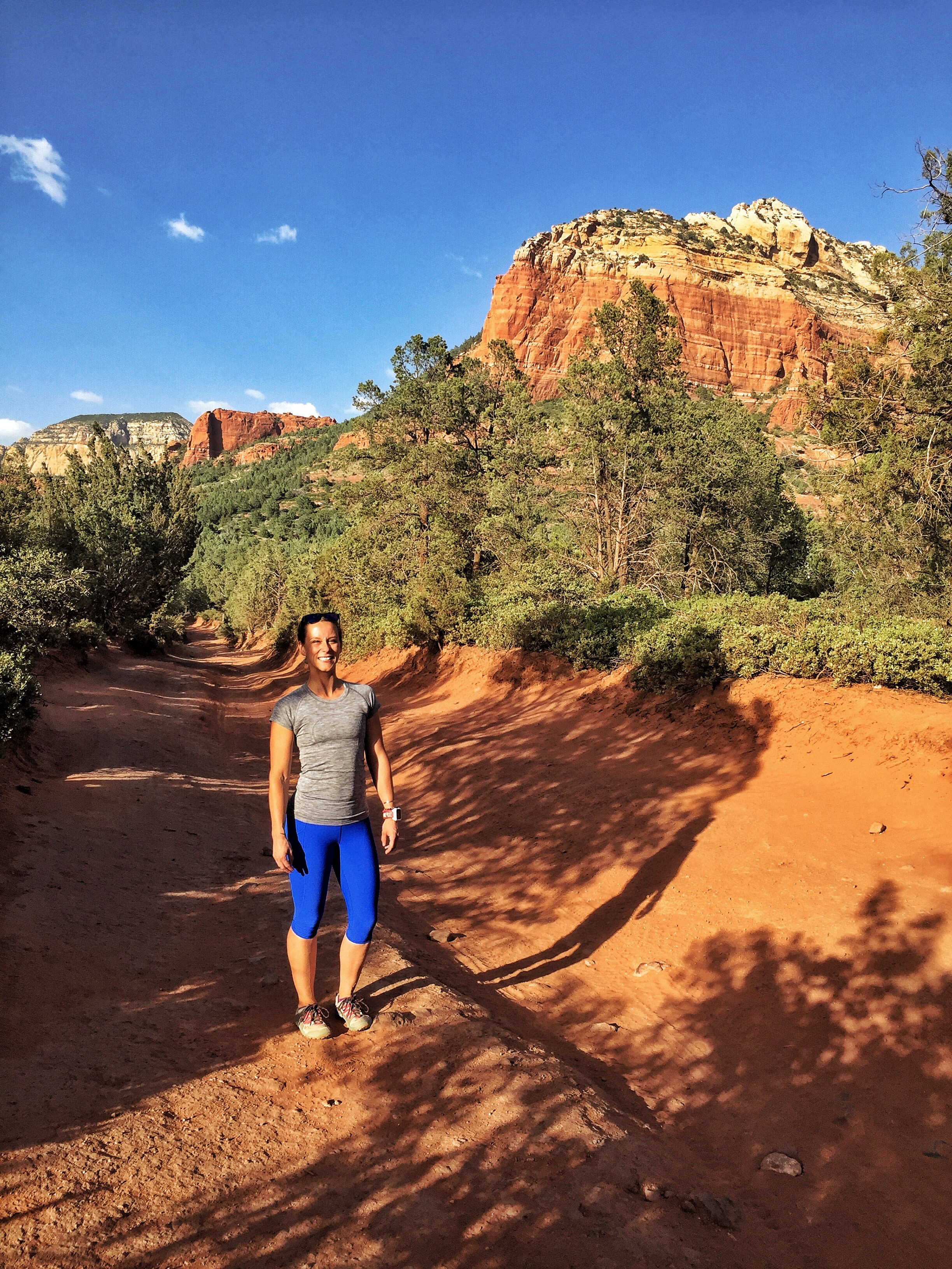 The blue pants allow me to stand out. Red Rock Canyons, Sedona, Arizona.