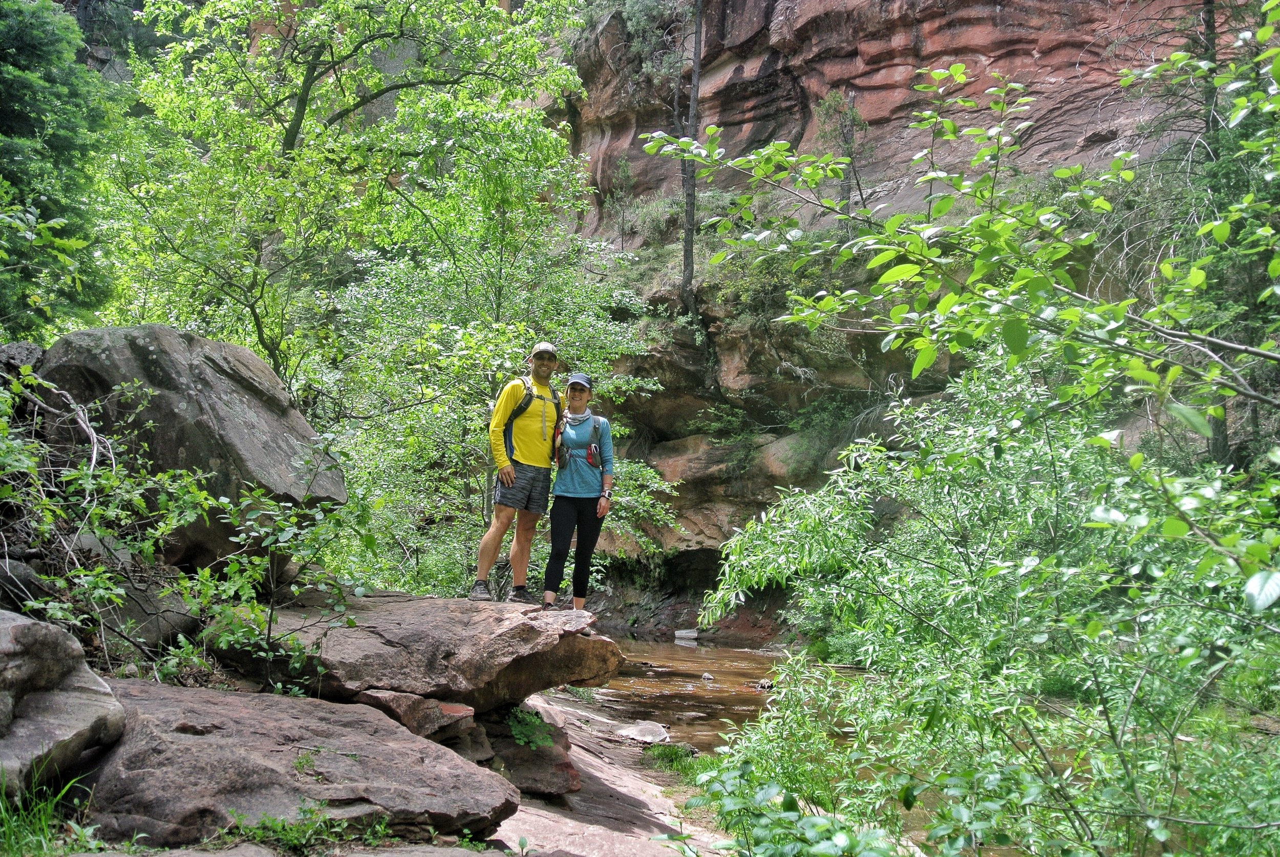 It's so green! West Fork, Coconino National Forest, Sedona Arizona.