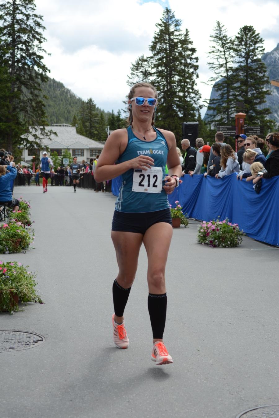 Can you see my bruised leg? Banff Marathon, Alberta Canada 2017.