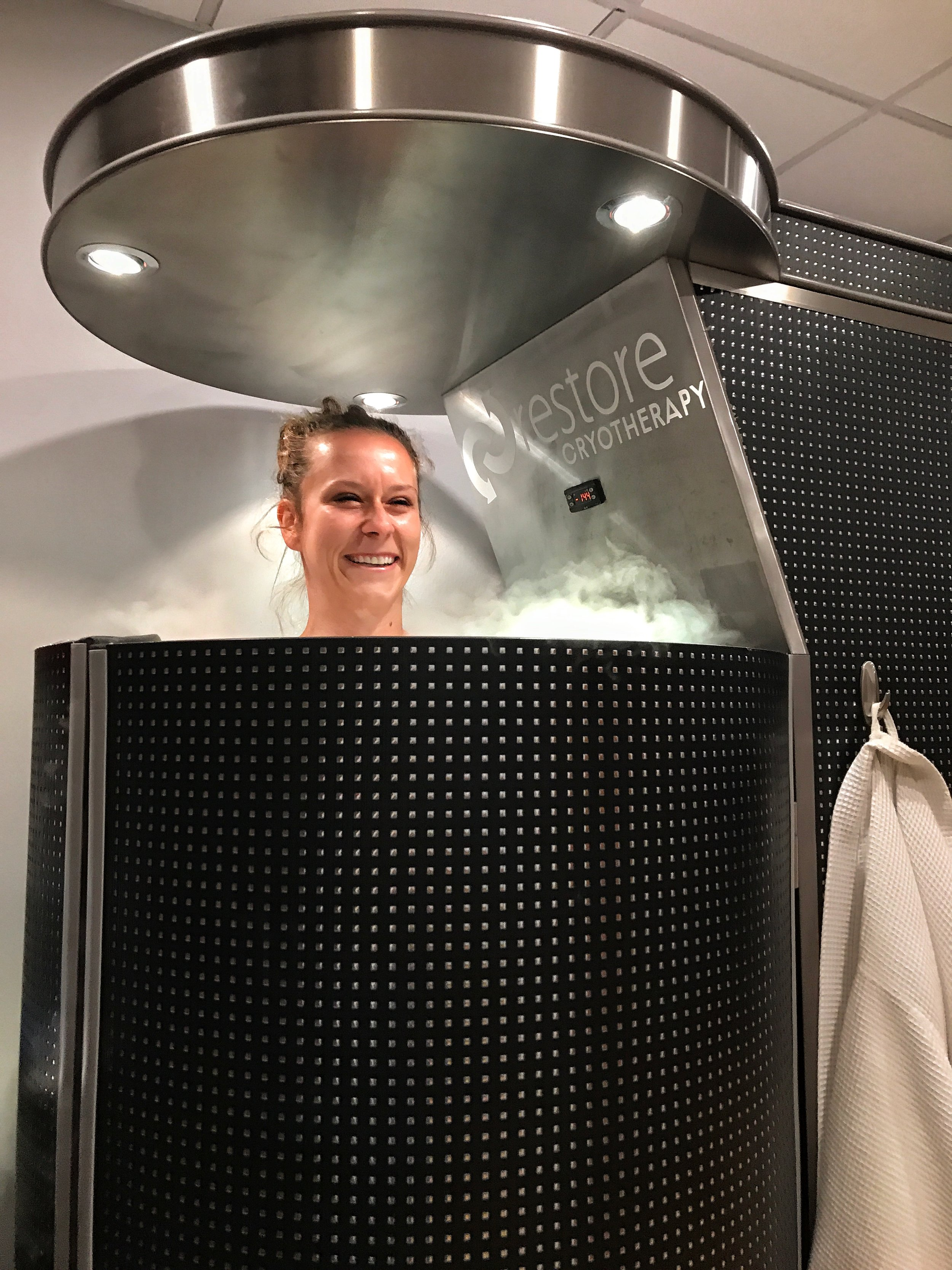 Nope, nothing to see here in the cryotherapy chamber.