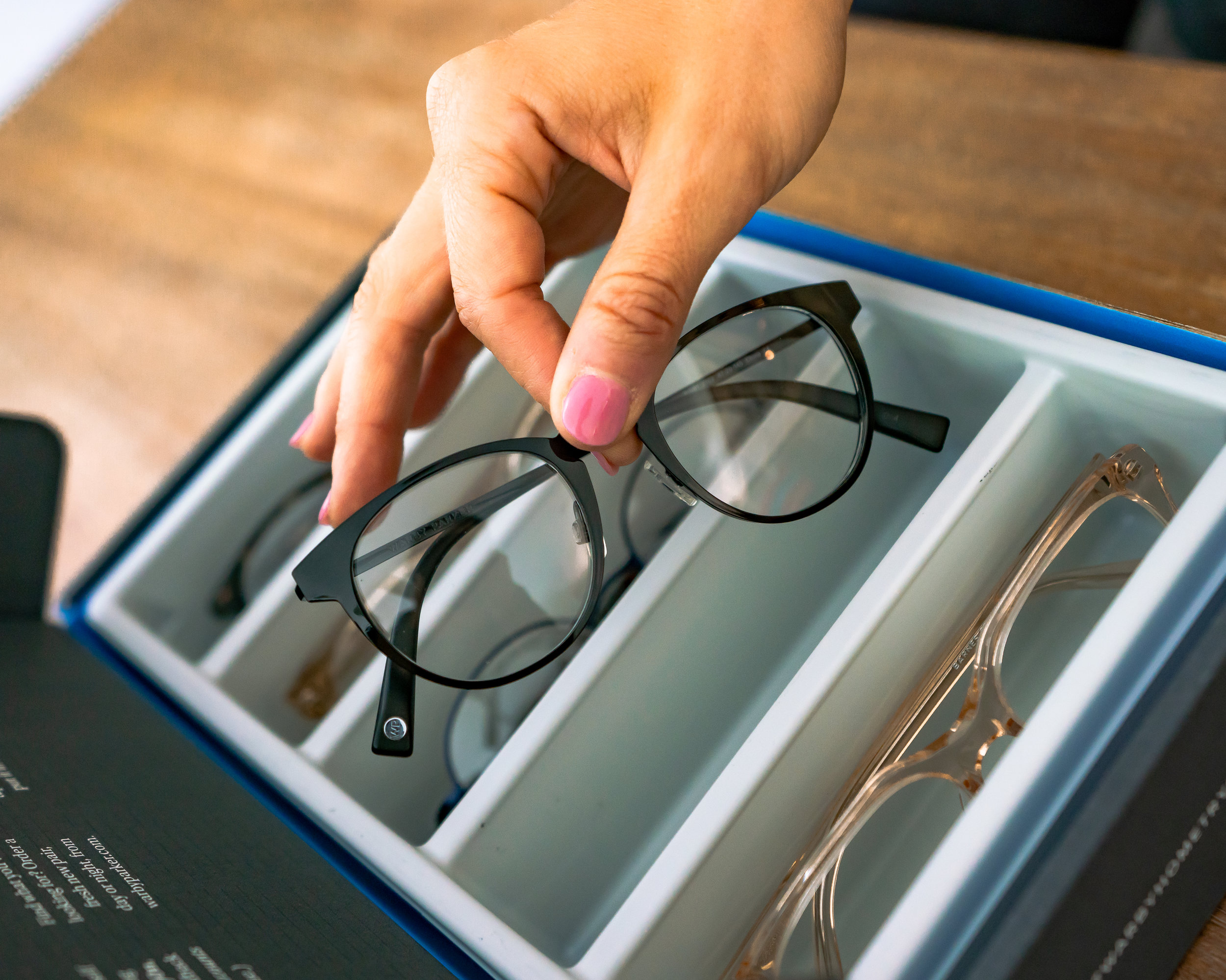Warby.Parker eyelass at home try on