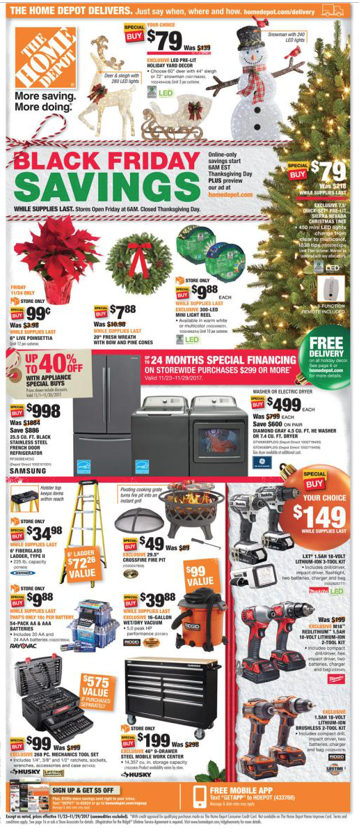 Black Friday Cheatsheet - Online Retailer sales