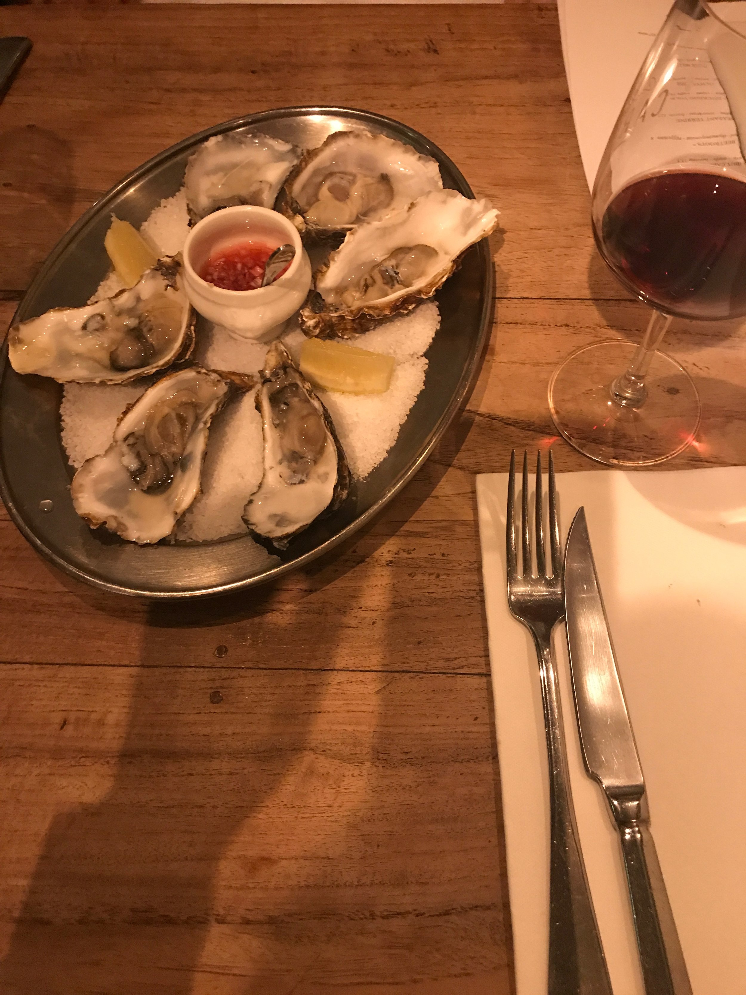 Cafe Caron oysters!