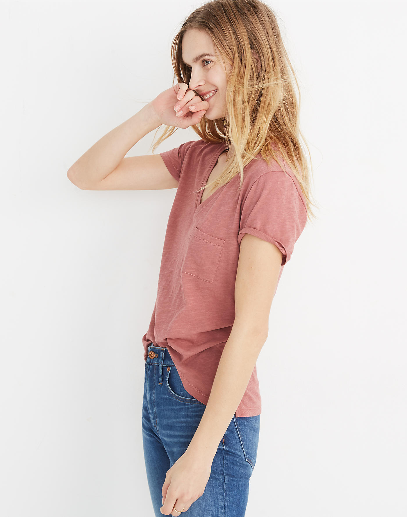 Whisper Cotton V-Neck Pocket Tee - Use code SUNNY20 for 20% offSHOP IT NOW