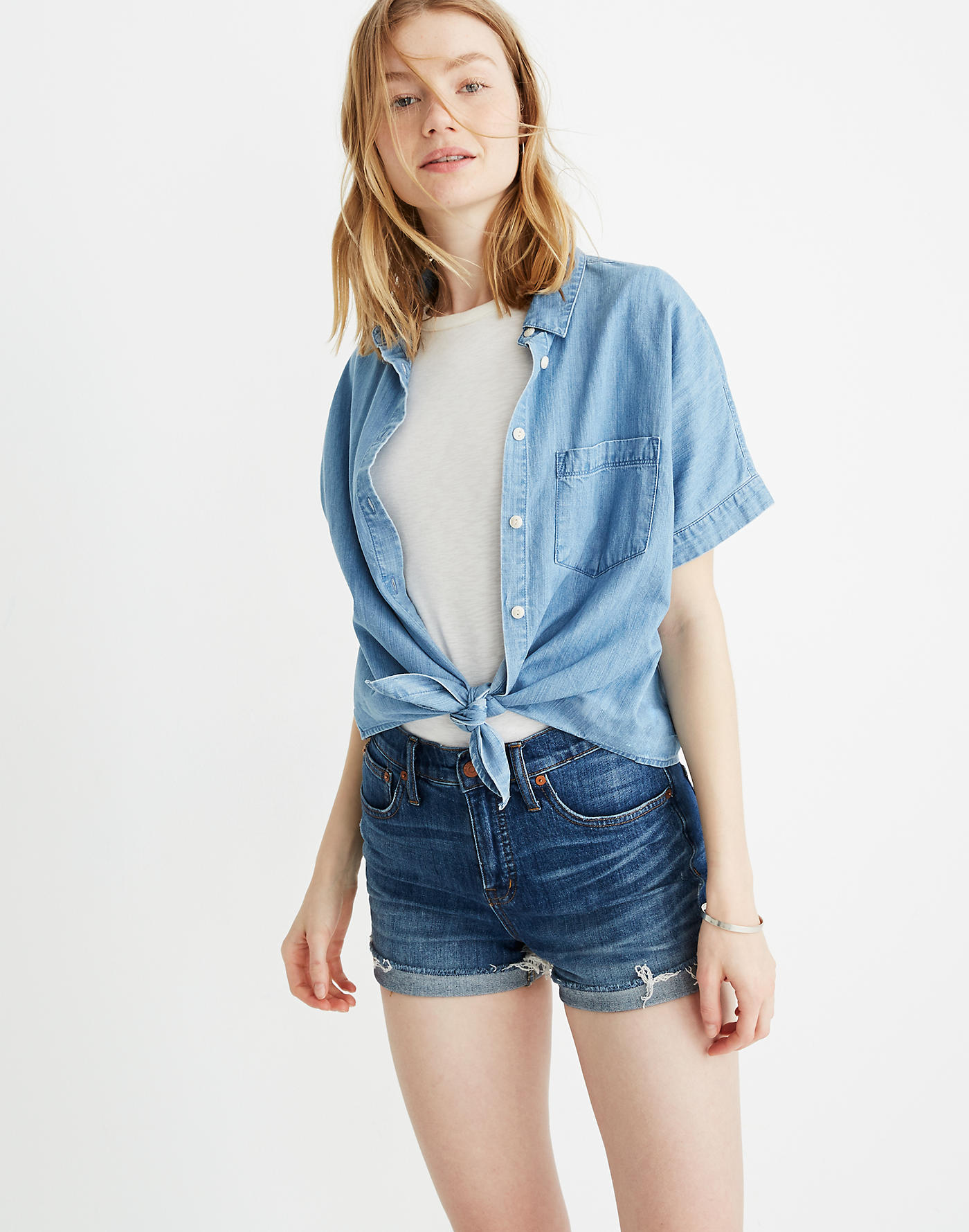 High-Rise Denim Shorts in Glenoaks Wash: Cutoff Edition - Use code SUNNY20 for 20% offSHOP IT NOW